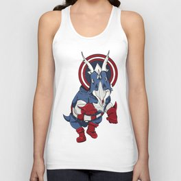 Captain Ameritops - Superhero Dinosaurs Series Unisex Tank Top