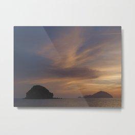 Sunset at Pollara Metal Print