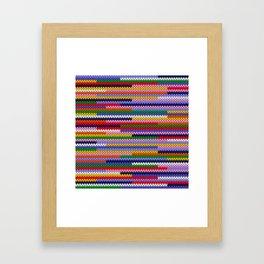 Knitted random lines Framed Art Print