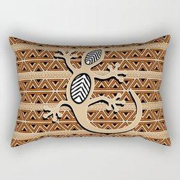 Africa Art Design With Gecko Rectangular Pillow