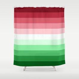 Flag Gradient v2 Shower Curtain