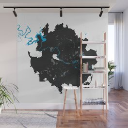 Austin Texas Minimalist Map (Light) Wall Mural