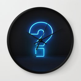 Question Mark (Neon) Wall Clock