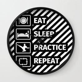 EAT SLEEP TAEK KWON DO REPEAT Wall Clock