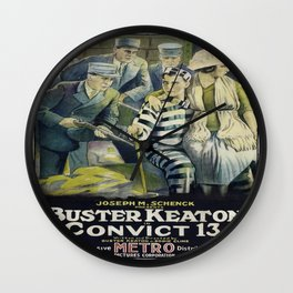 Vintage poster - Convict 13 Wall Clock