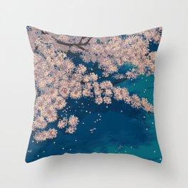 Ohanami Throw Pillow