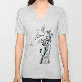 Poetic Giraffe Unisex V-Neck