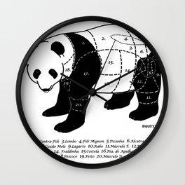 Churrasco de Panda  Wall Clock