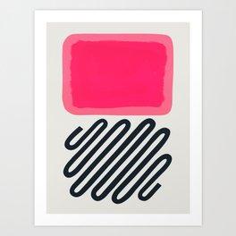 Candy Floss Bubble Gum Art Print
