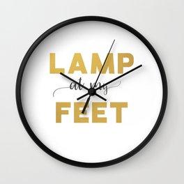 Lamp at My Feet Wall Clock