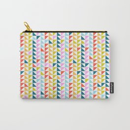 Triangular pattern patchwork Carry-All Pouch