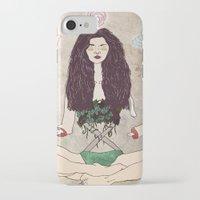 zen iPhone & iPod Cases featuring Zen by minniemorrisart