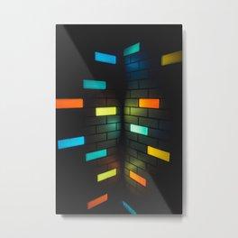 Light Bricks Metal Print
