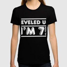 Leveled up! Happy 7th Seven Birthday Boy T-shirt