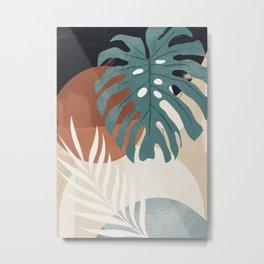Abstract Art Tropical Leaves  Metal Print