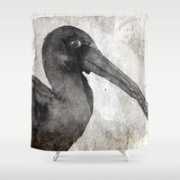 birdy Shower Curtains featuring Birdy by Linnea Frank