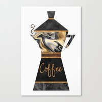 coffee Canvas Prints featuring Coffee by Elisabeth Fredriksson