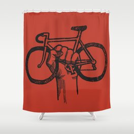 Bicycle Protest Sign Shower Curtain