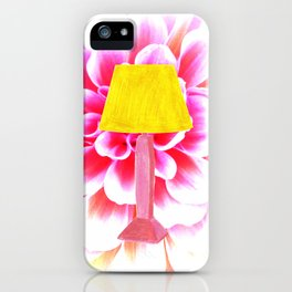 lamp shade flower illustration iPhone Case