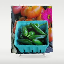 Jalapeno Peppers Shower Curtain