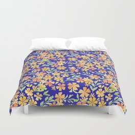 YELLOW ORANGE HULA PARTY Duvet Cover