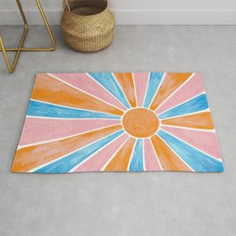 Rainbow Sun  - Bright and Bold Rug