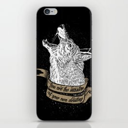 Wolf Protector (Black n Bronze collection) iPhone Skin