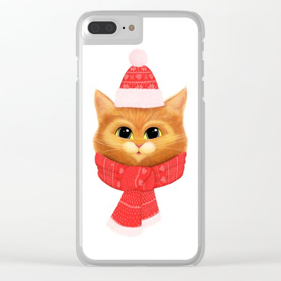 Winter kitty Clear iPhone Case