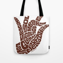 Heart Hand Milk Chocolate Tote Bag