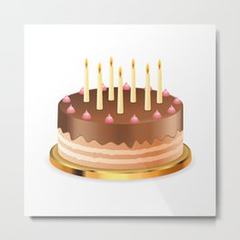 Cake with candles Metal Print