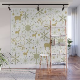 Winter pastel pattern design Wall Mural