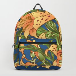 Tiger Lily Flowers Backpack