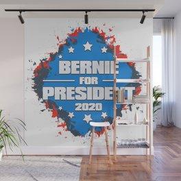 Bernie for President 2020 Grunge Design Wall Mural