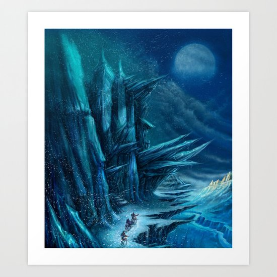 Winter riders. Art Print