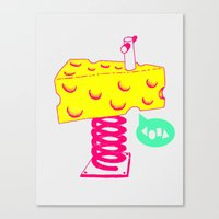 cheese Canvas Prints featuring Cheese by Wesley Fry