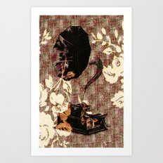 Dueling Phonographs V Art Print