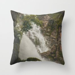 The Waterfalls of Nepal 001 Throw Pillow