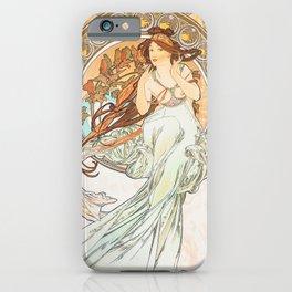 Alphonse Mucha Music Art Nouveau iPhone Case
