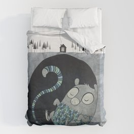 Let's bore for geothermal energy! Duvet Cover