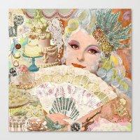 marie antoinette Canvas Prints featuring Marie Antoinette by Jenndalyn