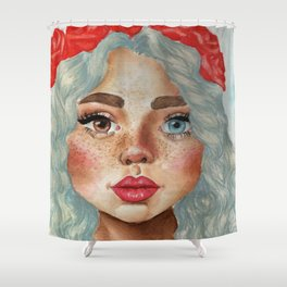 'Girl With Flower Crown' Shower Curtain