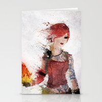 borderlands Stationery Cards featuring Lilith by Melissa Smith