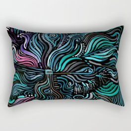 Grain and Flow Rectangular Pillow