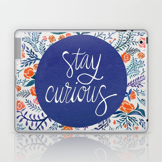 Stay Curious – Navy & Coral Laptop & iPad Skin