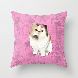 Cherry_the_flat_face_princess Throw Pillow
