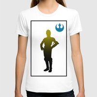 c3po T-shirts featuring c3po by inkleach