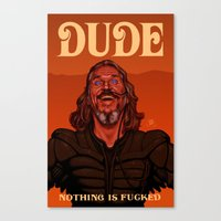 the dude Canvas Prints featuring Dude by Leif Jones