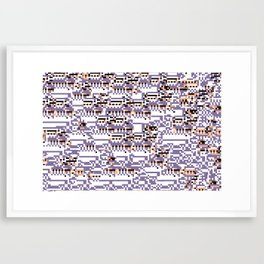content-aware missingno Framed Art Print