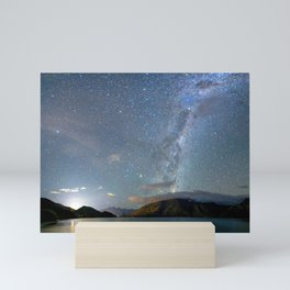 New Zealand Southern Hemisphere Skies Over Lake Wakatipu Mini Art Print