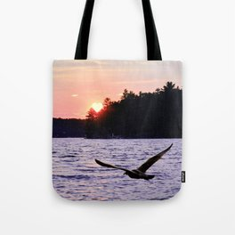 Fly into the Sunset Tote Bag